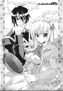 Rating: Questionable Score: 4 Tags: ayanokouji_kyoushirou kaishaku kyoushirou_to_towa_no_sora maid monochrome setsuna User: charunetra