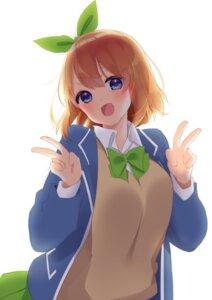 Rating: Safe Score: 15 Tags: 5-toubun_no_hanayome nakano_yotsuba seifuku sweater tagme User: charunetra