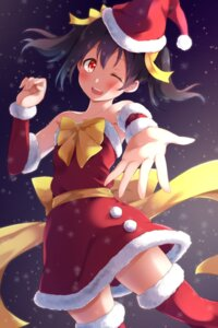 Rating: Safe Score: 15 Tags: christmas dress hitotsuki_no_yagi love_live! thighhighs yazawa_nico User: RyuZU