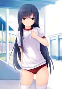 Rating: Safe Score: 106 Tags: buruma coffee-kizoku gym_uniform royal_mountain shiramine_rika thighhighs User: Hatsukoi