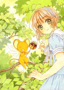 Rating: Safe Score: 8 Tags: card_captor_sakura clamp kerberos kinomoto_sakura seifuku User: picturebits