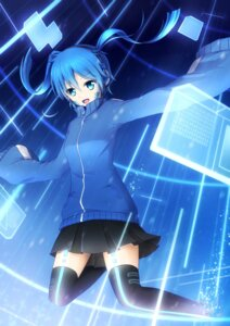 Rating: Safe Score: 26 Tags: asakurashinji enomoto_takane headphones kagerou_project thighhighs User: Romio88