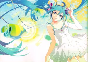 Rating: Safe Score: 31 Tags: 119 binding_discoloration dress hatsune_miku headphones summer_dress vocaloid User: withul