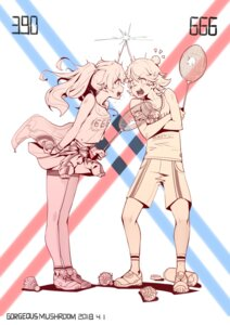 Rating: Safe Score: 38 Tags: cleavage darling_in_the_franxx gorgeous_mushroom miku_(darling_in_the_franxx) zorome_(darling_in_the_franxx) User: Spidey