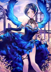 Rating: Safe Score: 23 Tags: cleavage dress hayami_kanade neko-san_(dim.dream) skirt_lift the_idolm@ster the_idolm@ster_cinderella_girls wings User: Mr_GT