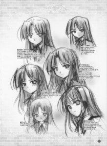 Rating: Safe Score: 5 Tags: bekkankou fortune_arterial kuze_kiriha monochrome sketch User: admin2