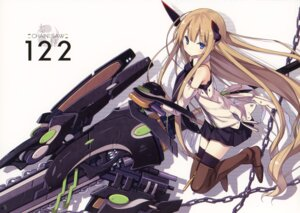 Rating: Safe Score: 33 Tags: asahiage chainsaw mecha_musume poco thighhighs User: fireattack