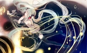 Rating: Safe Score: 23 Tags: bou_shaku hatsune_miku headphones thighhighs vocaloid User: charunetra