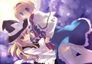 Rating: Safe Score: 11 Tags: alice_margatroid dress kirisame_marisa nekoiro thighhighs touhou User: charunetra