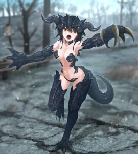 Rating: Questionable Score: 16 Tags: anthropomorphization bikini_armor fallout horns monster_girl tagme tail thighhighs tom-neko_(zamudo_akiyuki) User: Dreista
