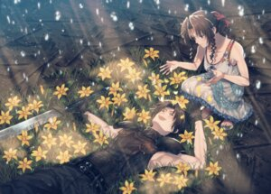 Rating: Safe Score: 13 Tags: 234_(artist) aerith_gainsborough dress final_fantasy final_fantasy_vii sword zack_fair User: charunetra