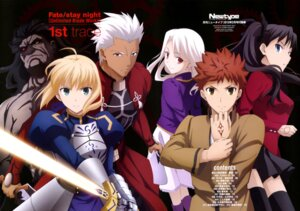 Rating: Safe Score: 34 Tags: archer armor berserker dress emiya_shirou fate/stay_night fate/stay_night_unlimited_blade_works illyasviel_von_einzbern saber sword tattoo thighhighs toosaka_rin tsuji_masatoshi User: drop
