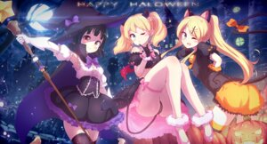 Rating: Safe Score: 40 Tags: alice_cartelet animal_ears garter halloween horns kin'iro_mosaic kujou_karen nekomimi nitro_(mugityaoisii) oomiya_shinobu pantsu tail thighhighs weapon wings witch User: Mr_GT