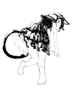 Rating: Safe Score: 21 Tags: animal_ears dress feet jaco monochrome nekomimi tail User: nphuongsun93