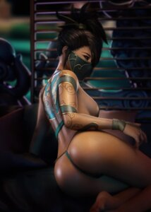 Rating: Questionable Score: 15 Tags: akali ass bra league_of_legends ninja pantsu sevenbees tattoo thighhighs thong User: XenoGoku