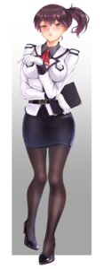 Rating: Safe Score: 10 Tags: heels kaga_(kancolle) kantai_collection pantyhose siki2046 uniform User: Mr_GT