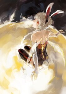 Rating: Safe Score: 13 Tags: animal_ears bunny_ears ibaraki thighhighs User: fireattack