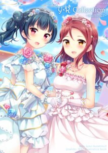 Rating: Safe Score: 17 Tags: dress hazuki_(sutasuta) love_live!_sunshine!! sakurauchi_riko tsushima_yoshiko wedding_dress User: Mr_GT