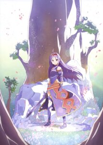 Rating: Safe Score: 55 Tags: armor konno_yuuki leotard pointy_ears sword sword_art_online User: drop