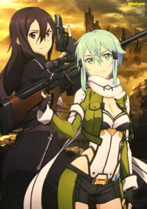 Rating: Safe Score: 39 Tags: cleavage gun gun_gale_online kirito sekizaki_masaya sinon sword_art_online sword_art_online_ii User: drop