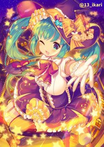 Rating: Safe Score: 14 Tags: halloween hatsune_miku heels ikari_(aor3507) stockings thighhighs vocaloid witch User: Mr_GT