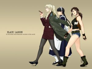 Rating: Safe Score: 20 Tags: azasuke azasuke_wind balalaika black_lagoon business_suit heels maid pantyhose revy roberta User: Radioactive