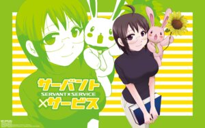 Rating: Questionable Score: 5 Tags: megane servant_x_service takatsu_karino wallpaper yamagami_lucy User: Korino