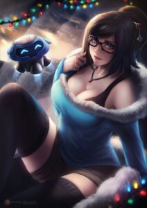 Rating: Questionable Score: 10 Tags: axsens cleavage megane mei_(overwatch) overwatch thighhighs User: Darkthought75