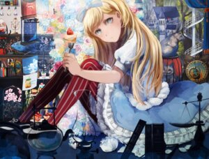 Rating: Safe Score: 12 Tags: alice alice_in_wonderland dress phelps_(zhanjianshaonv) skirt_lift tomoyami User: BattlequeenYume