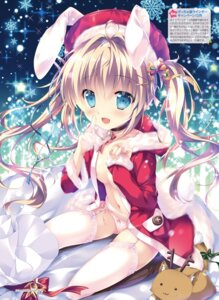 Rating: Questionable Score: 36 Tags: animal_ears bunny_ears cameltoe christmas garter_belt mikeou no_bra open_shirt pantsu stockings string_panties tail thighhighs User: Twinsenzw