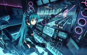 Rating: Safe Score: 91 Tags: hatsune_miku headphones thighhighs vania600 vocaloid wallpaper User: Share