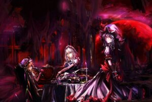 Rating: Safe Score: 36 Tags: dress flandre_scarlet izayoi_sakuya maid remilia_scarlet stu_dts touhou wings User: D-king