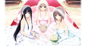 Rating: Safe Score: 108 Tags: cleavage dress hibiki_works iizuki_tasuku isurugi_yuki kurihara_aiko naruse_nono niiduma_lovely_x_cation see_through wedding_dress User: moonian