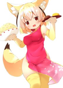 Rating: Safe Score: 32 Tags: animal_ears chinadress fennec kemono_friends makuran tail thighhighs User: BattlequeenYume