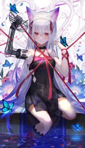 Rating: Safe Score: 14 Tags: amahara_subaru animal_ears dress mecha_musume sword wet User: BattlequeenYume