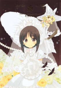 Rating: Safe Score: 22 Tags: akieda dress hakurei_reimu kirisame_marisa touhou wedding_dress witch User: Radioactive