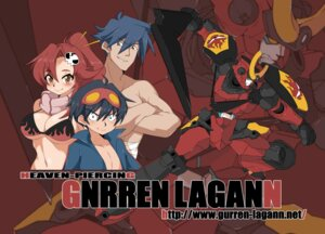 Rating: Safe Score: 5 Tags: bikini_top cleavage kamina mecha simon tengen_toppa_gurren_lagann yajirushi_kaku yoko User: Radioactive