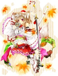 Rating: Safe Score: 30 Tags: animal_ears inubashiri_momiji kujaku_renka lolita_fashion sword tail touhou wa_lolita User: Mr_GT