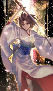 Rating: Safe Score: 31 Tags: akamiso fate/grand_order kara_no_kyoukai kimono ryougi_shiki sword User: Nepcoheart