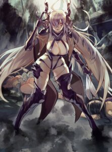 Rating: Questionable Score: 21 Tags: animal_ears bikini_armor bunny_ears cleavage gyudong123 horns last_origin monster_girl pantsu thighhighs User: Dreista
