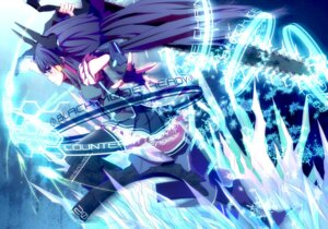 Rating: Safe Score: 36 Tags: aoki_reika black_rock_shooter cosplay crossover meron_to_maria pretty_cure smile_precure! sword thighhighs vocaloid User: eridani