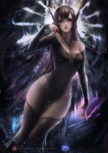 Rating: Questionable Score: 24 Tags: axsens d.va dress no_bra overwatch see_through thighhighs User: BattlequeenYume