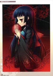 Rating: Safe Score: 5 Tags: enma_ai hinadamari jigoku_shoujo katagiri_hinata kimono User: WtfCakes