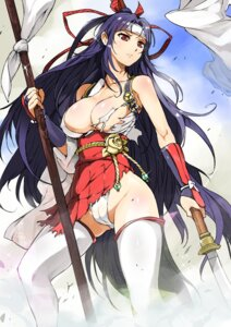 Rating: Questionable Score: 69 Tags: breasts cameltoe cleavage erect_nipples japanese_clothes momo_kyun_sword momoko_(momo_kyun_sword) naitou_ryu no_bra pantsu thighhighs torn_clothes weapon User: Mr_GT
