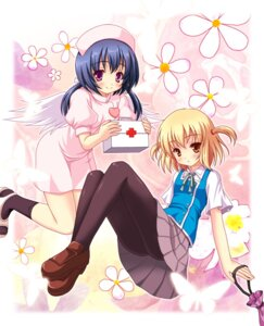 Rating: Safe Score: 22 Tags: d-fragments funabori nurse pantyhose seifuku shibasaki_roka wings yamasan User: blooregardo