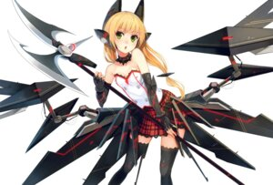Rating: Questionable Score: 76 Tags: cleavage paseri thighhighs weapon User: blooregardo