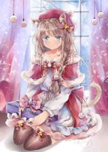 Rating: Safe Score: 49 Tags: animal_ears christmas dress mutang tail thighhighs User: Mr_GT