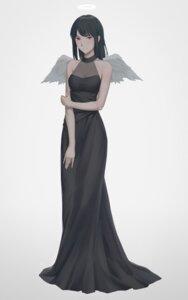 Rating: Safe Score: 19 Tags: cleavage dress haibane_renmei miura_naoko reki_(haibane_renmei) see_through wings User: charunetra