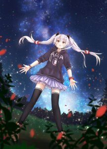 Rating: Safe Score: 45 Tags: amatsukaze_(kancolle) kantai_collection see_through thighhighs yamiarisu User: Mr_GT