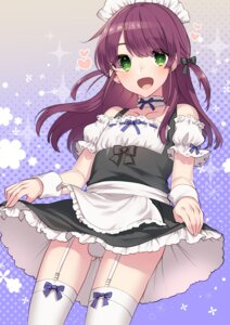 Rating: Questionable Score: 32 Tags: heavens_sparrow maid pantsu skirt_lift stockings thighhighs trap User: Mr_GT